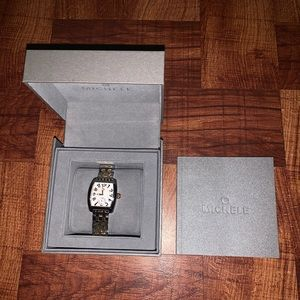 NWT Michele Urban Mini Two-Tone Bracelet Watch